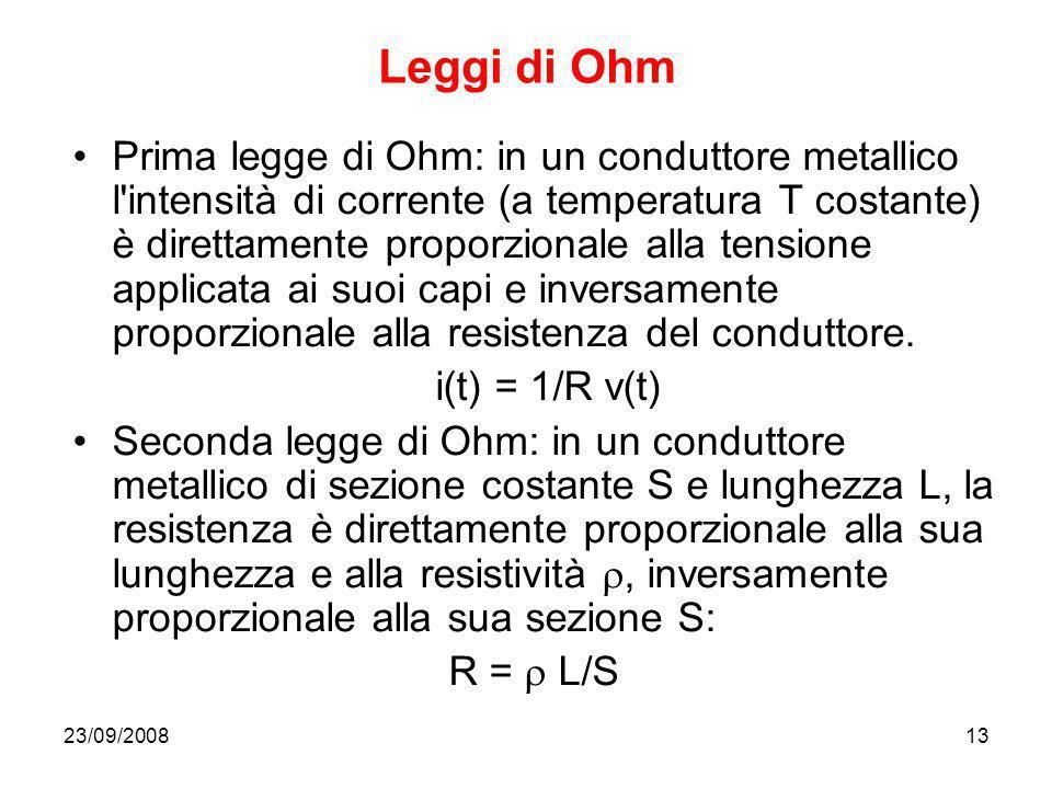 Leggi di Ohm