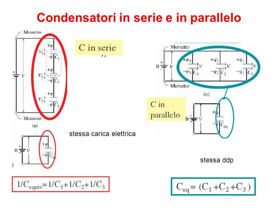 Condensatori in serie e in parallelo