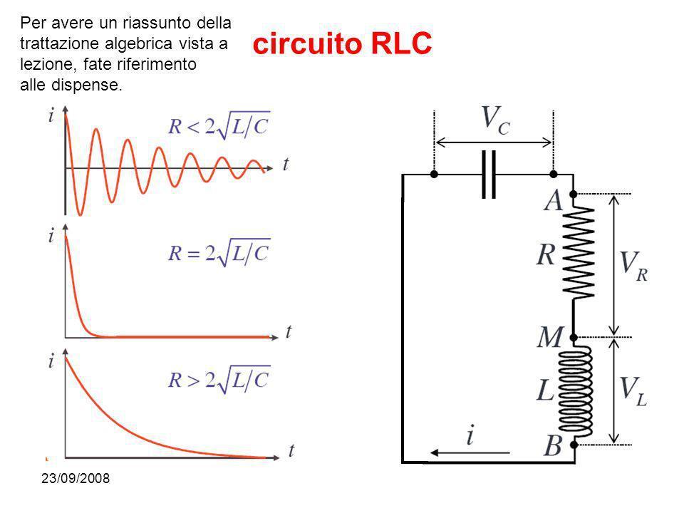 circuito RLC Per avere un riassunto della