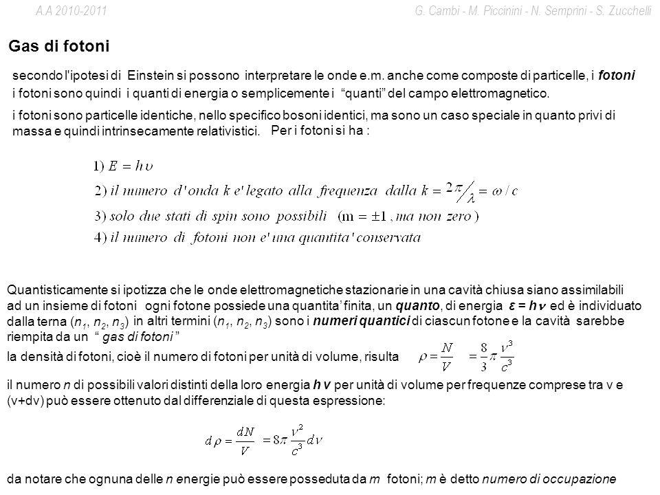 A.A 2010-2011 G. Cambi - M. Piccinini - N. Semprini - S. Zucchelli