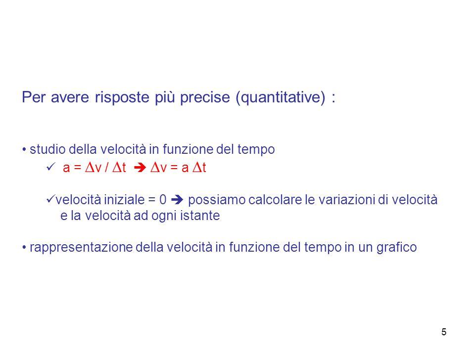 Per avere risposte più precise (quantitative) :