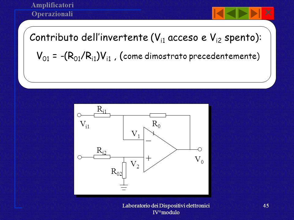 Laboratorio dei Dispositivi elettronici IV°modulo