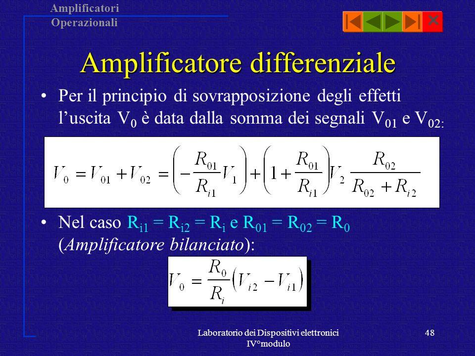 Amplificatore differenziale