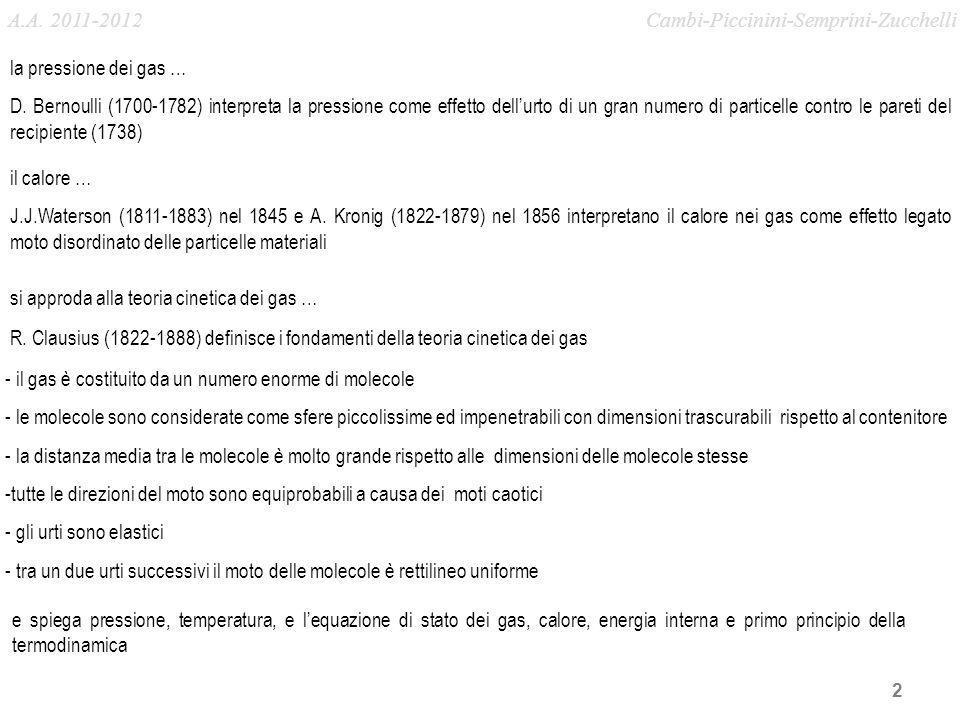 A.A. 2011-2012 Cambi-Piccinini-Semprini-Zucchelli. la pressione dei gas …