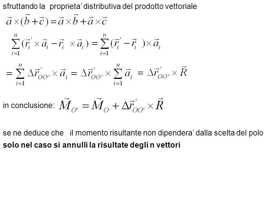 sfruttando la proprieta' distributiva del prodotto vettoriale
