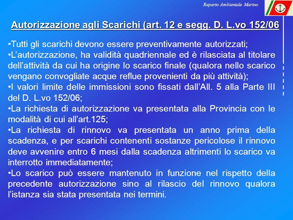 Autorizzazione agli Scarichi (art. 12 e segg. D. L.vo 152/06