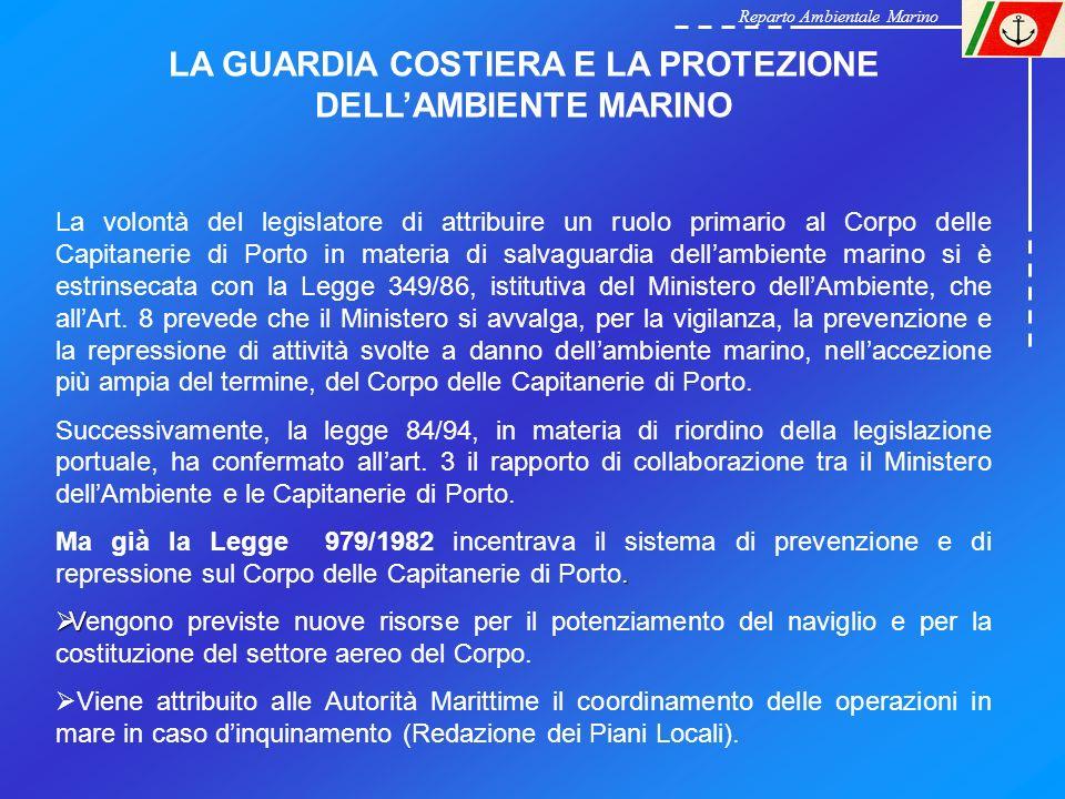 LA GUARDIA COSTIERA E LA PROTEZIONE DELL'AMBIENTE MARINO