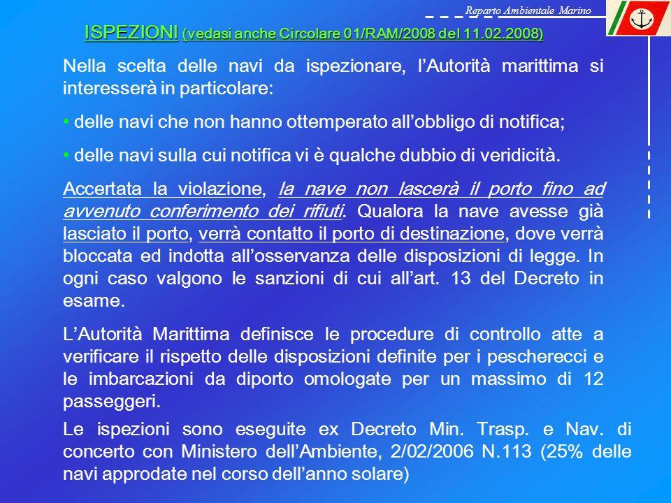 ISPEZIONI (vedasi anche Circolare 01/RAM/2008 del 11.02.2008)
