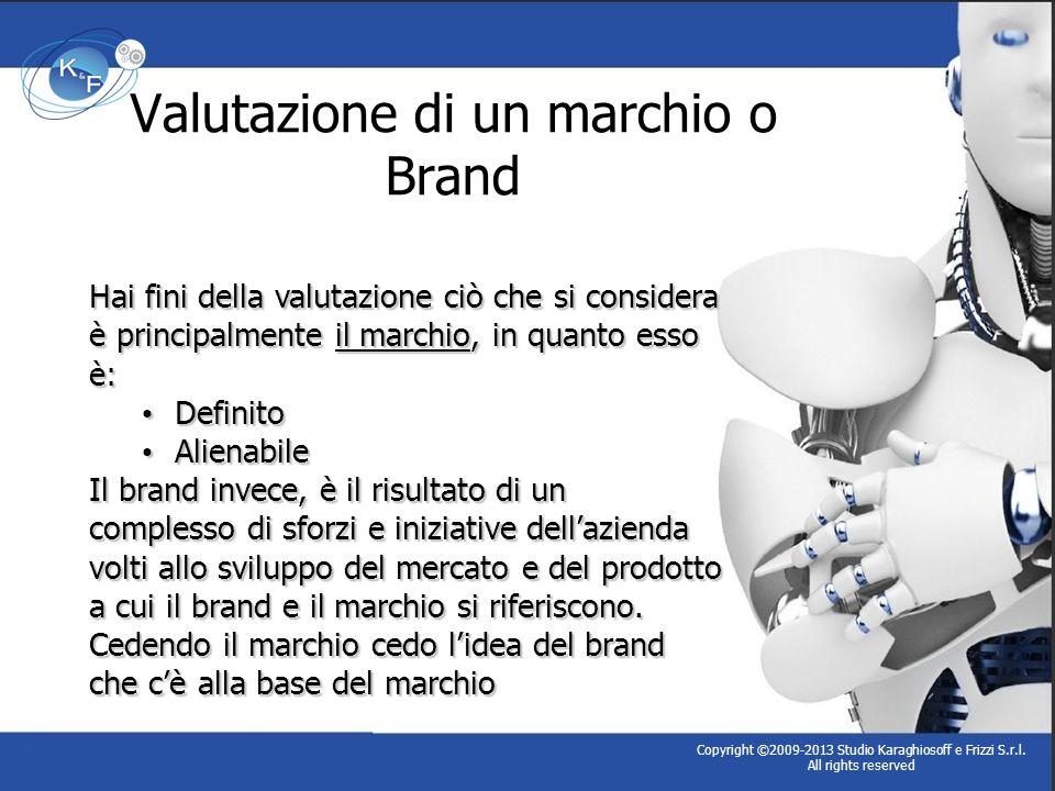 Valutazione di un marchio o Brand