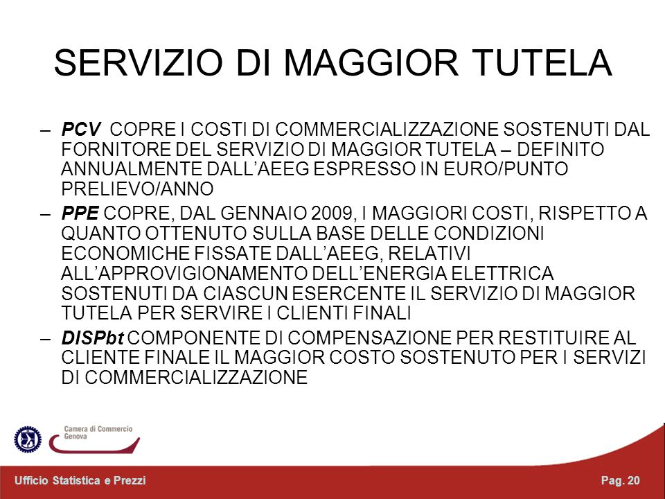 SERVIZIO DI MAGGIOR TUTELA