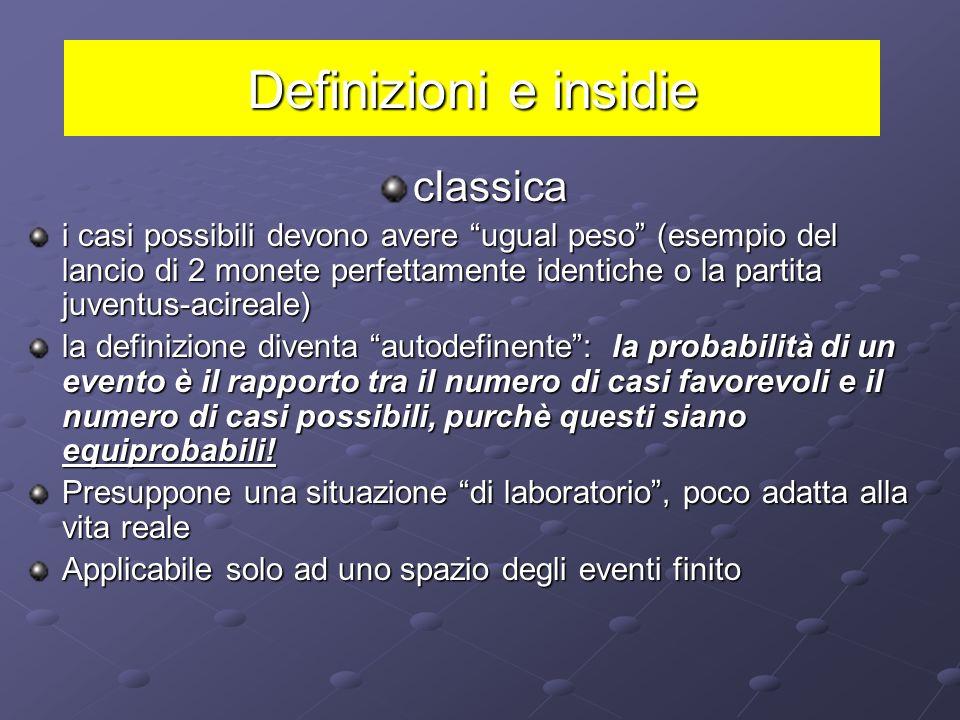 Definizioni e insidie classica