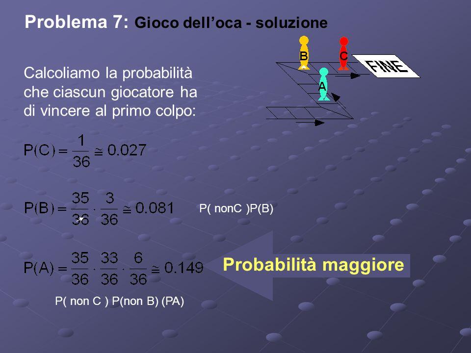 Problema 7: Gioco dell'oca - soluzione