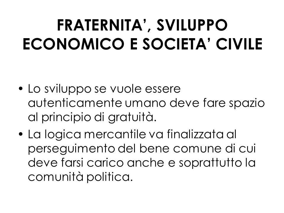 FRATERNITA', SVILUPPO ECONOMICO E SOCIETA' CIVILE