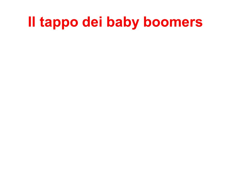 Il tappo dei baby boomers