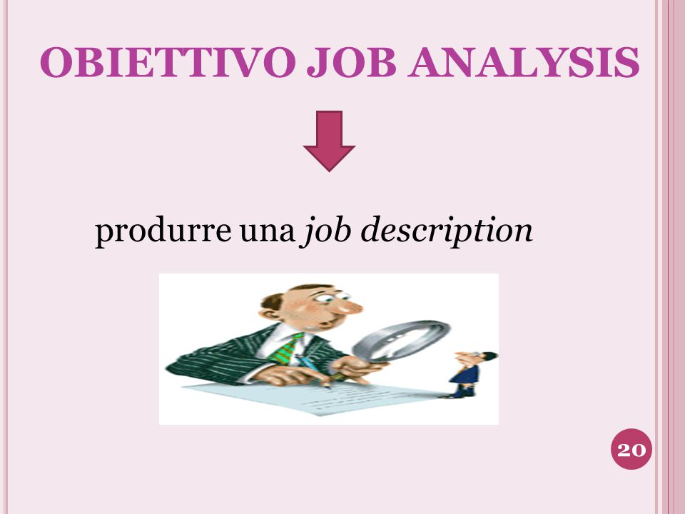 OBIETTIVO JOB ANALYSIS