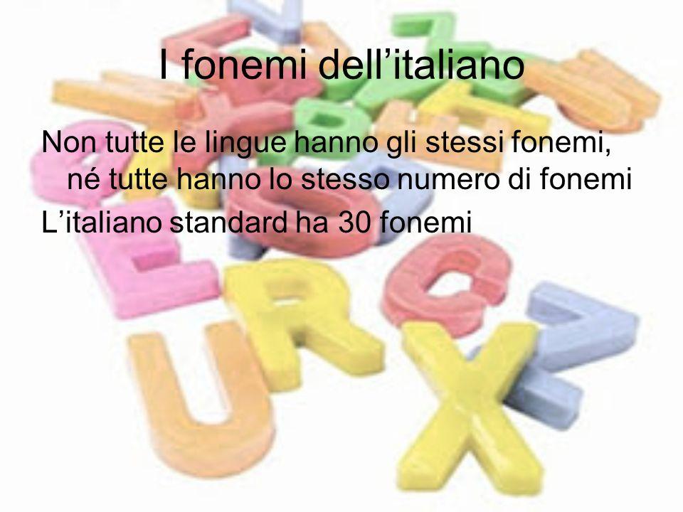 I fonemi dell'italiano