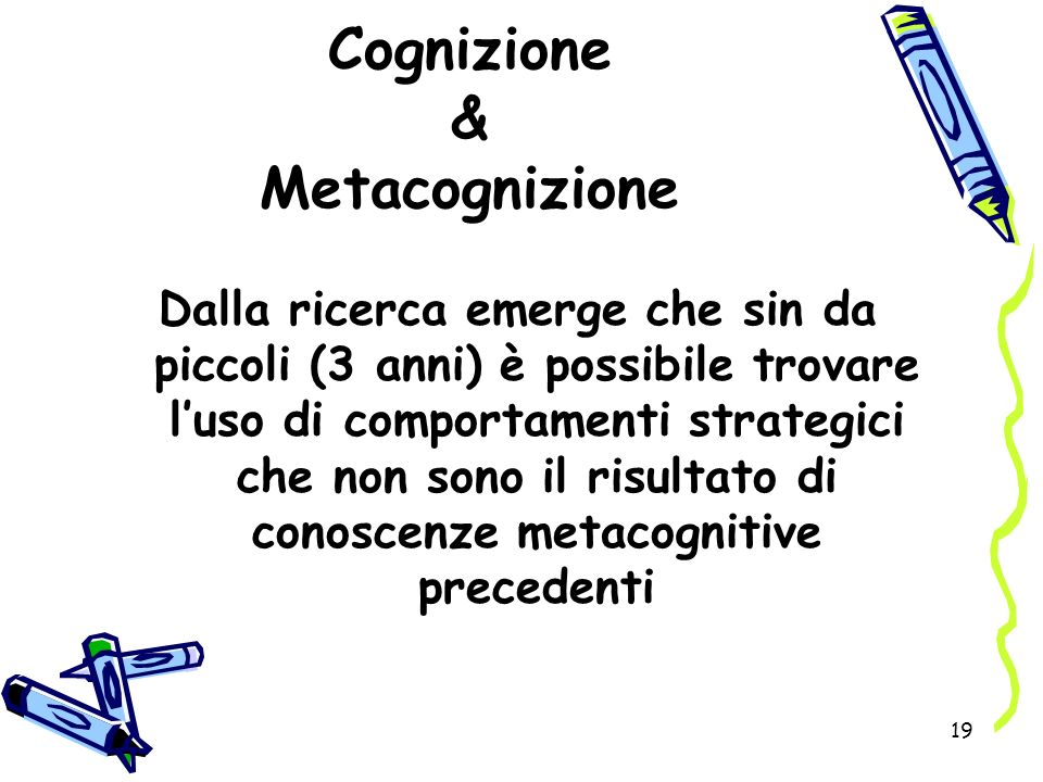 Cognizione & Metacognizione