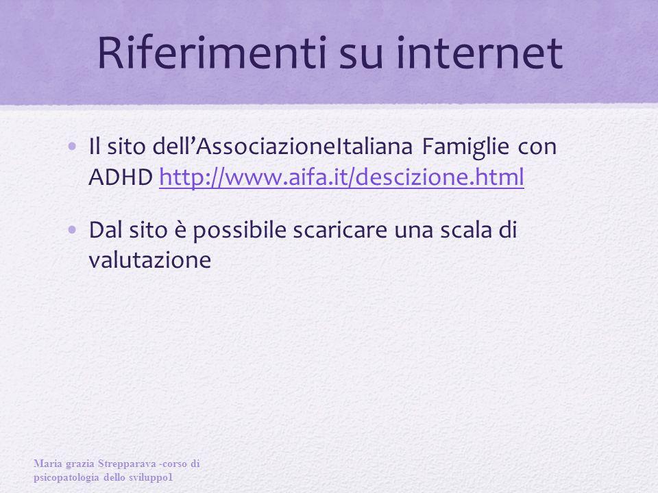 Riferimenti su internet