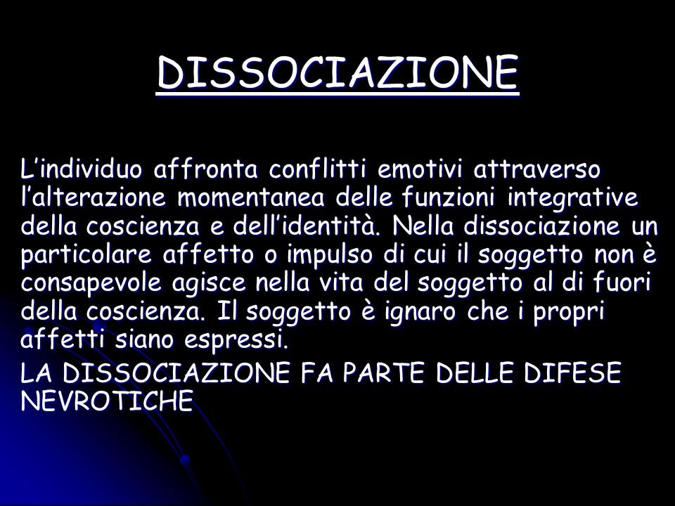DISSOCIAZIONE