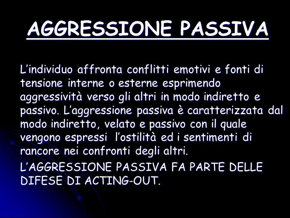 AGGRESSIONE PASSIVA