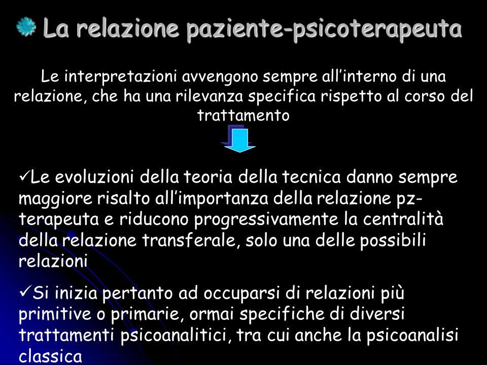 La relazione paziente-psicoterapeuta