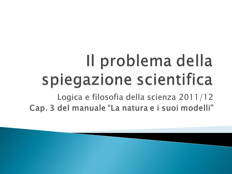 Il problema della spiegazione scientifica