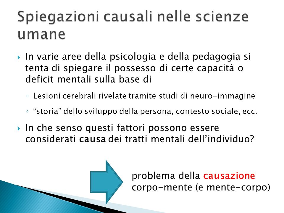 Spiegazioni causali nelle scienze umane