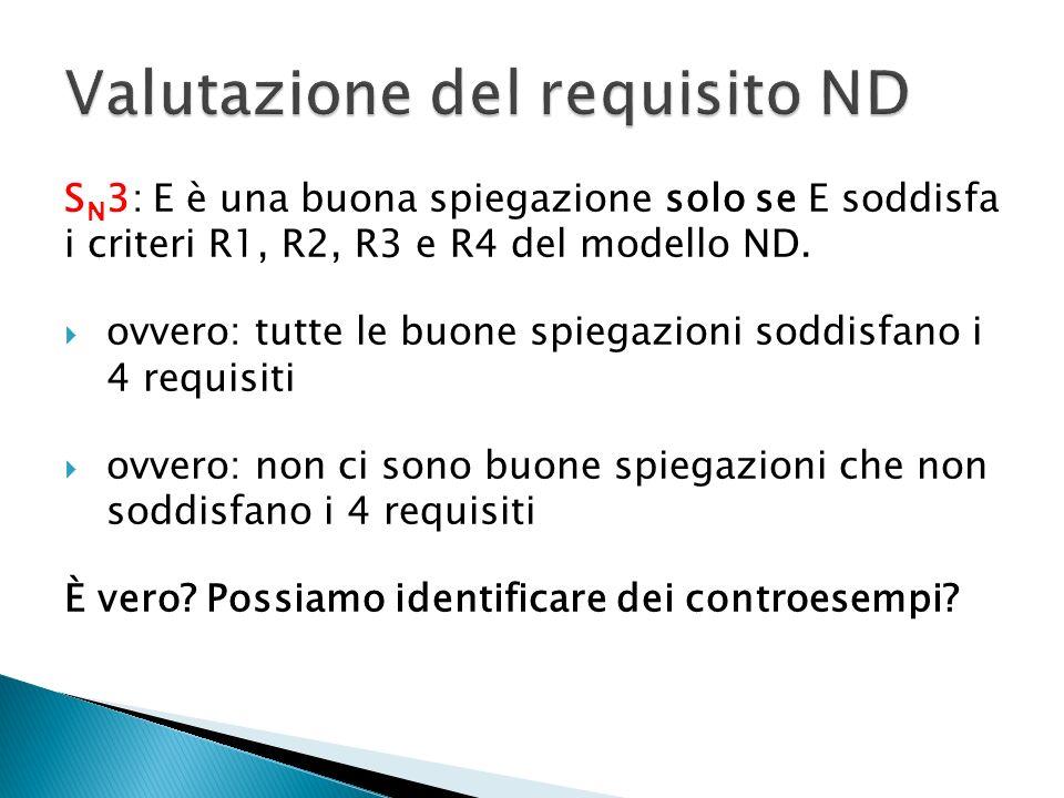 Valutazione del requisito ND