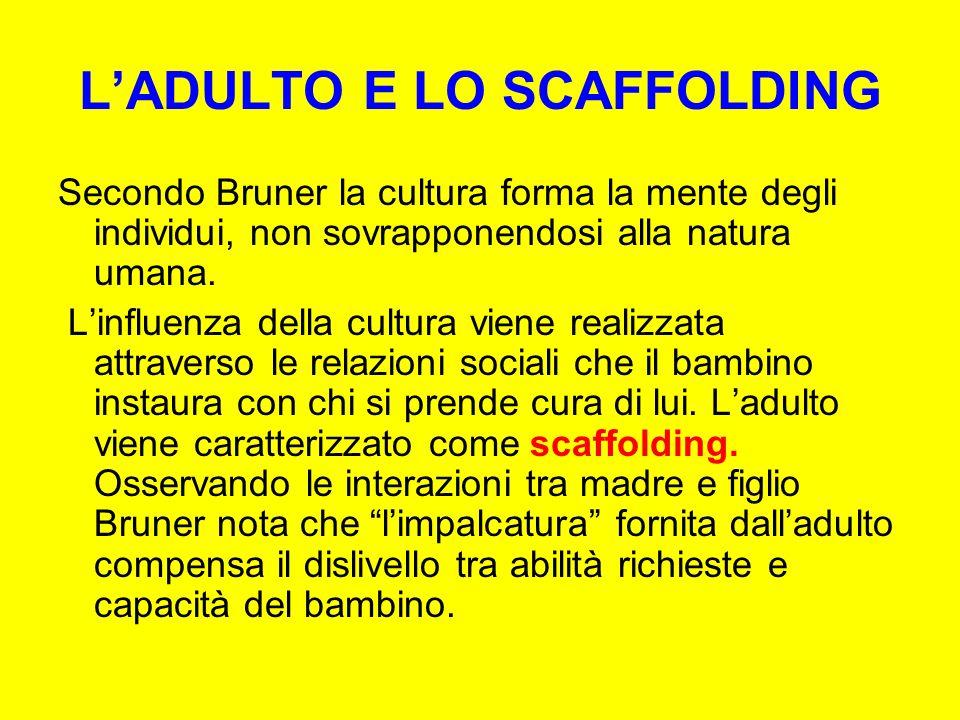 L'ADULTO E LO SCAFFOLDING