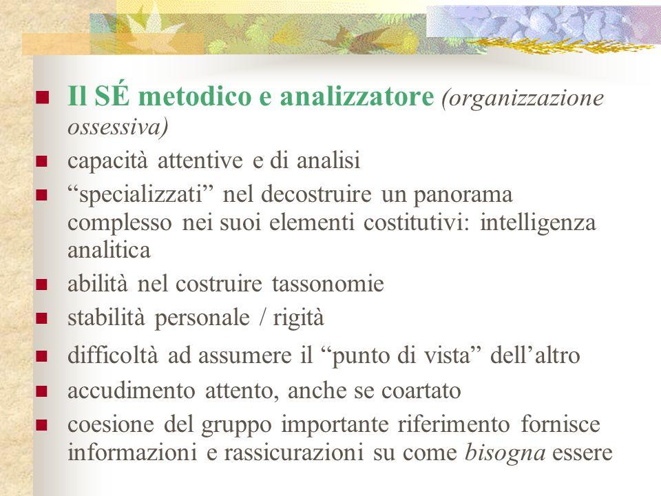 Il SÉ metodico e analizzatore (organizzazione ossessiva)