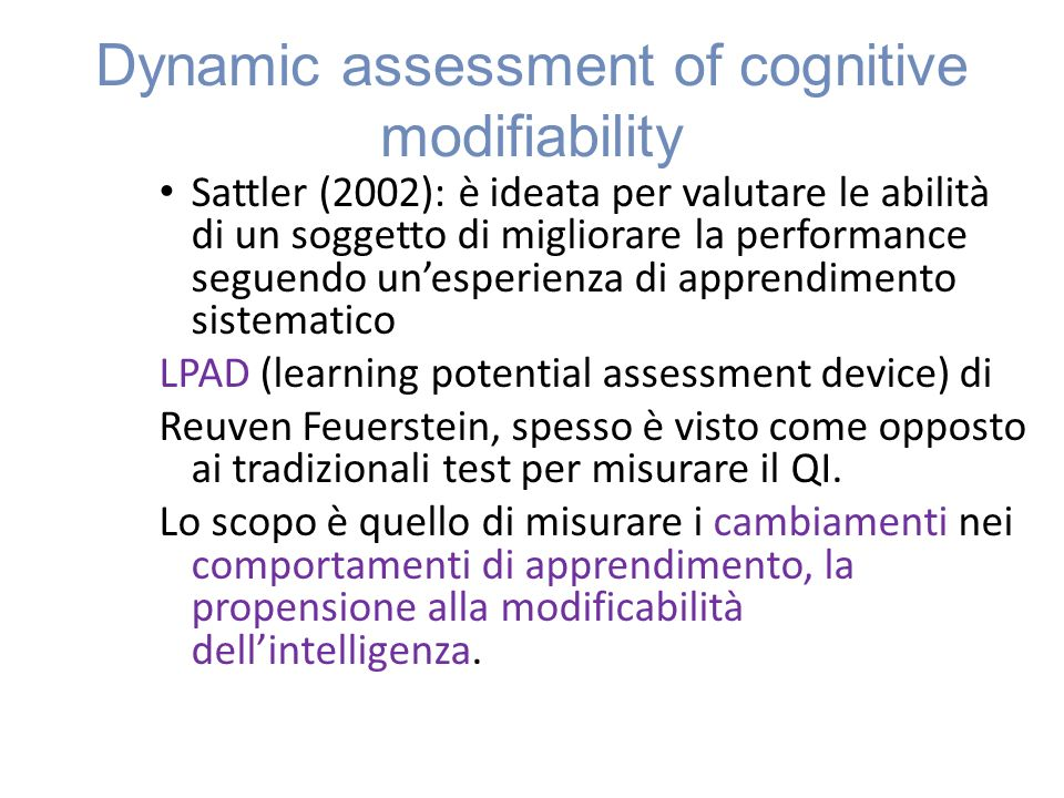 Dynamic assessment of cognitive modifiability