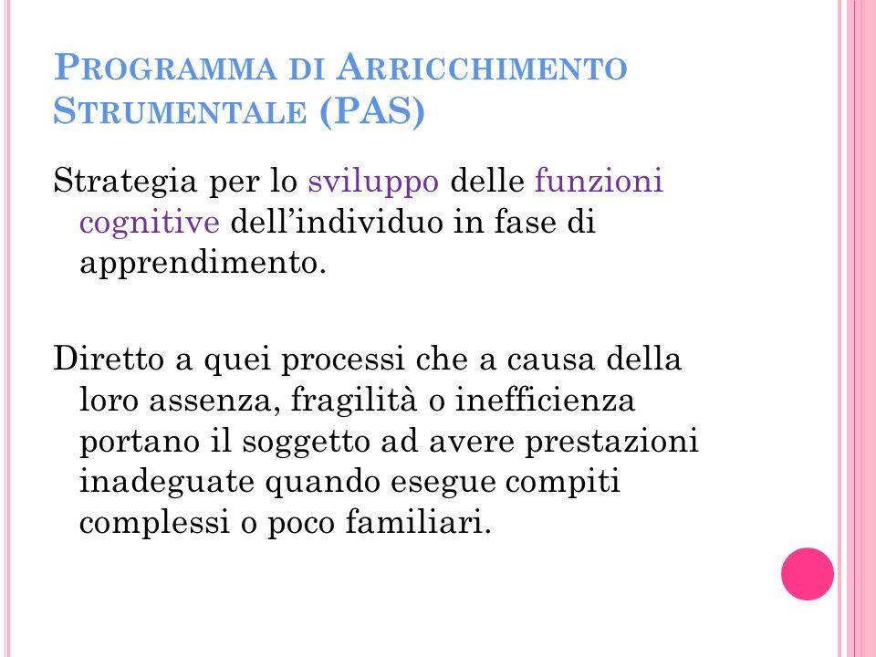 Programma di Arricchimento Strumentale (PAS)