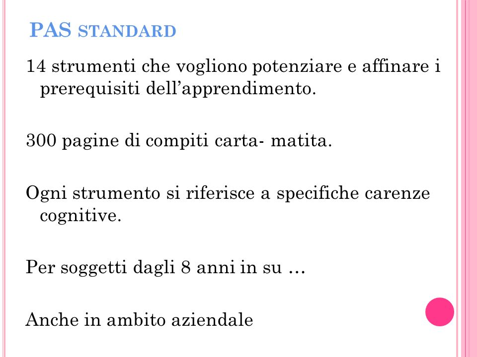 PAS standard