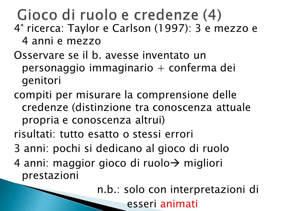 Gioco di ruolo e credenze (4)