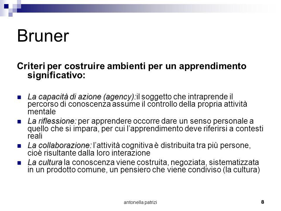 BrunerCriteri per costruire ambienti per un apprendimento significativo: