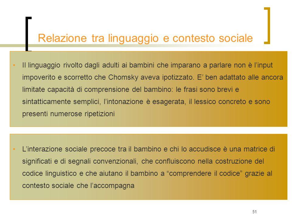 Relazione tra linguaggio e contesto sociale