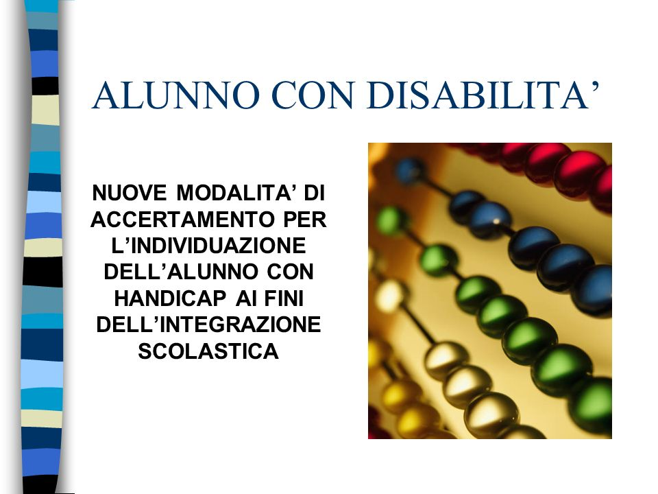ALUNNO CON DISABILITA'