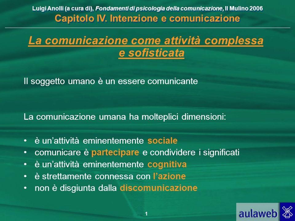 La comunicazione come attività complessa e sofisticata