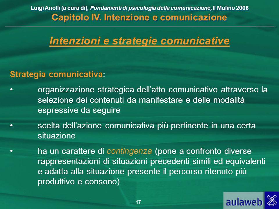 Intenzioni e strategie comunicative