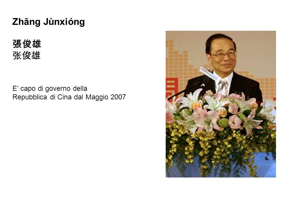 Zhāng Jùnxióng 張俊雄 张俊雄 E' capo di governo della
