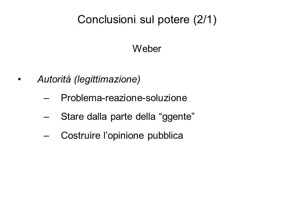Conclusioni sul potere (2/1)