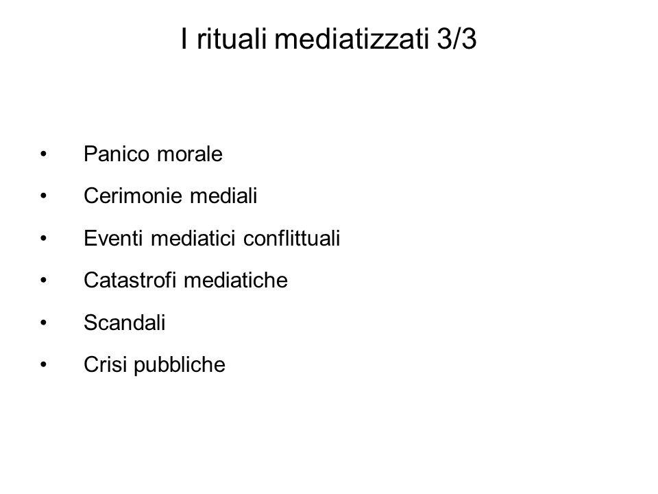 I rituali mediatizzati 3/3