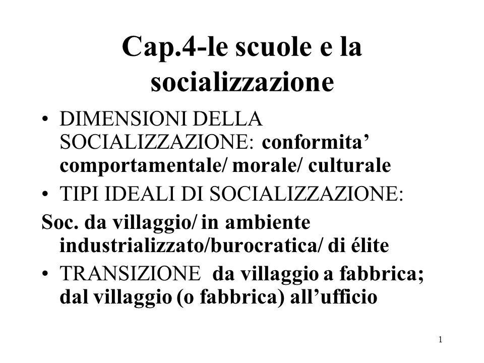 Cap.4-le scuole e la socializzazione