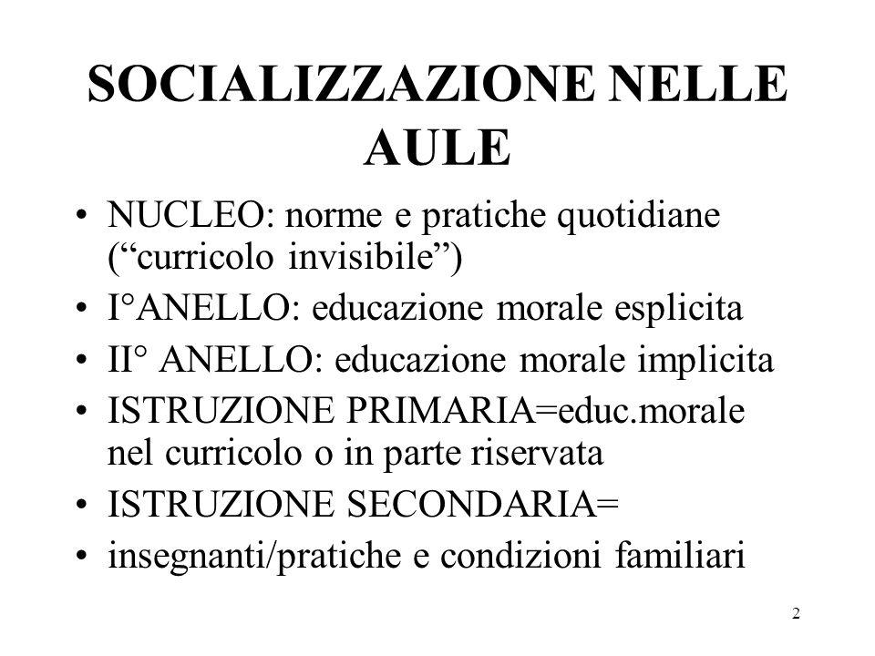 SOCIALIZZAZIONE NELLE AULE