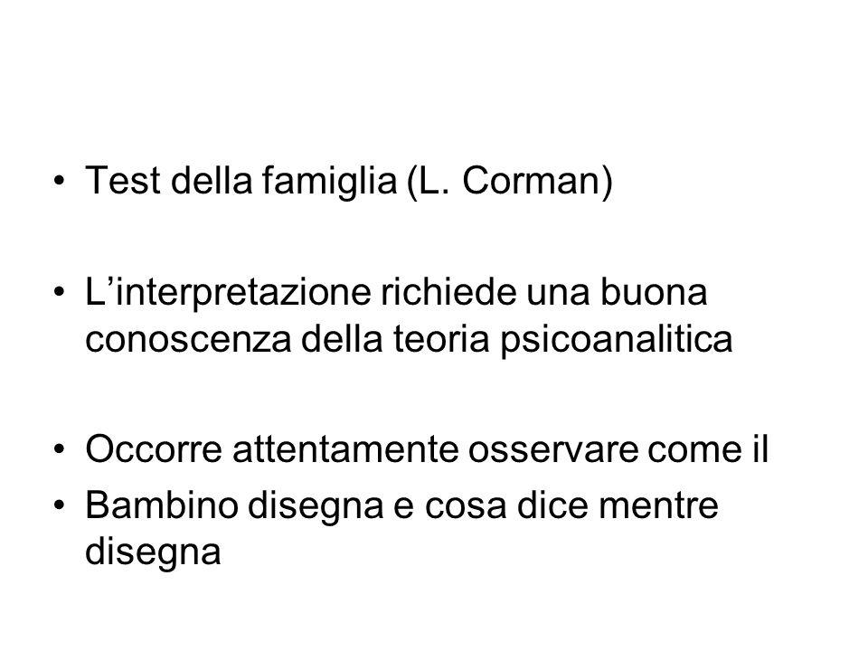 Test della famiglia (L. Corman)