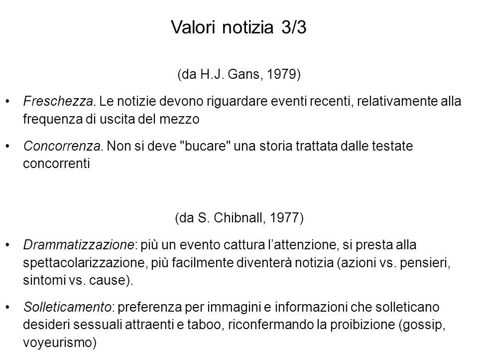 Valori notizia 3/3 (da H.J. Gans, 1979)