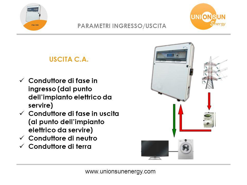 PARAMETRI INGRESSO/USCITA