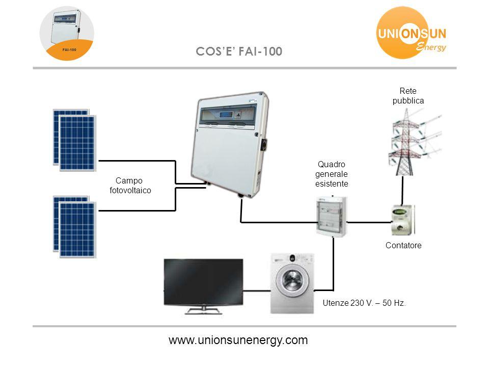 COS'E' FAI-100 www.unionsunenergy.com Rete pubblica Quadro generale