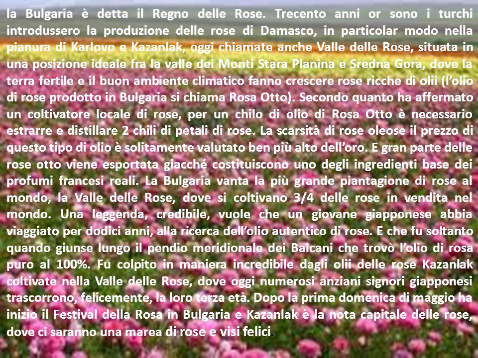 la Bulgaria è detta il Regno delle Rose