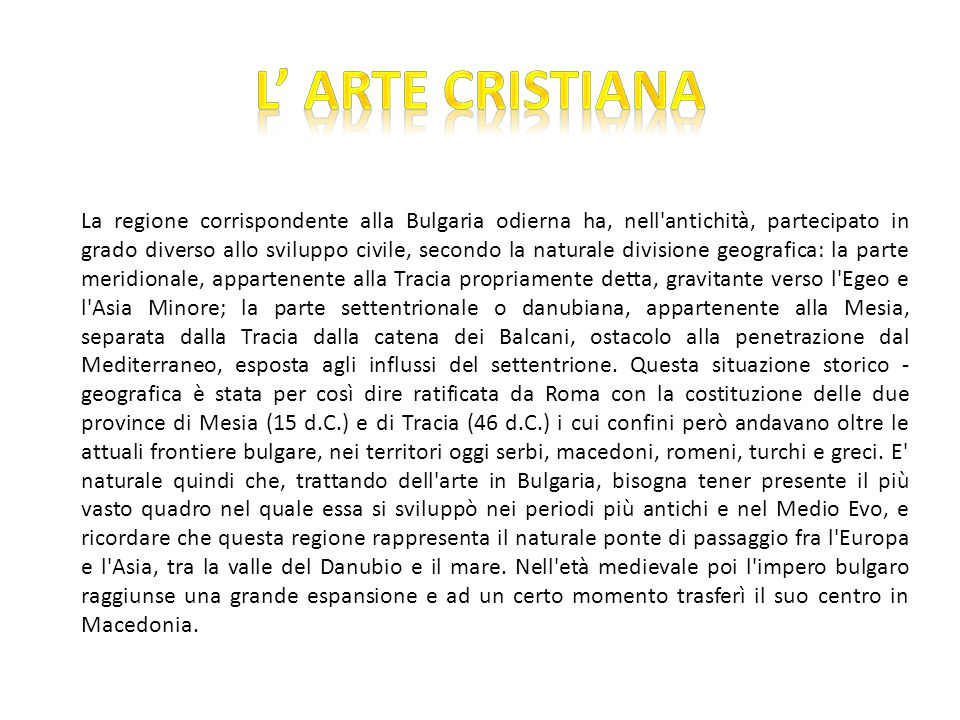 L' ARTE CRISTIANA